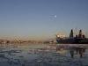 Göteborgs hamn i kvällsljus