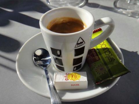 Espresso på Safari i Nice