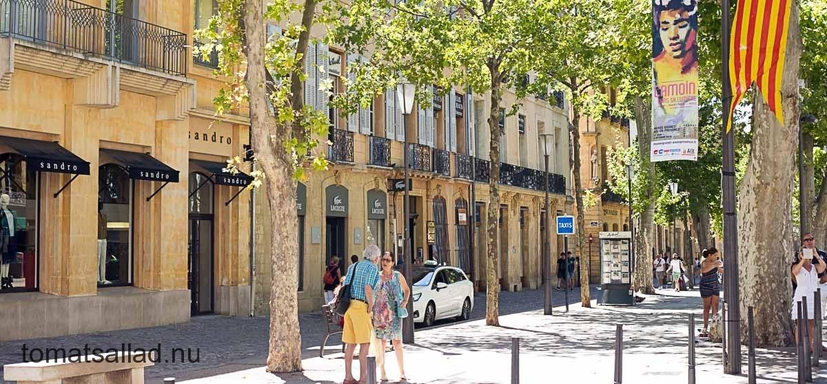 Cours Mirabeau i Aix en Provence