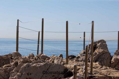 staket, strandpromenad