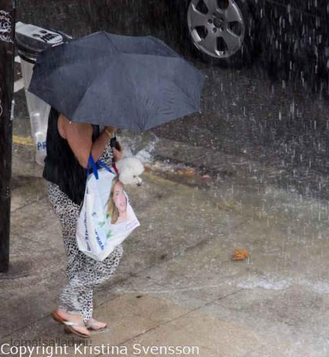 regn i Antibes