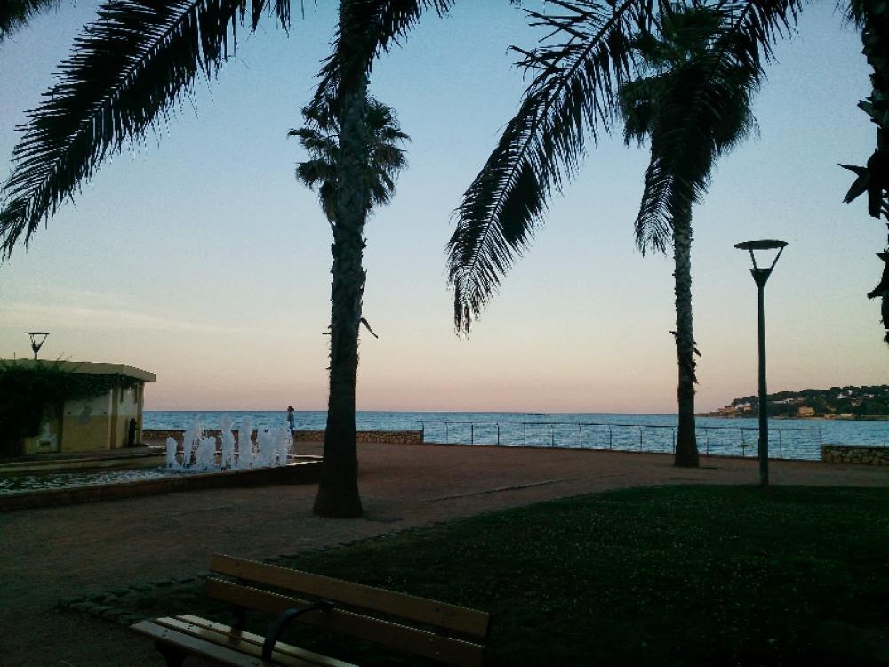 solnedgång Antibes