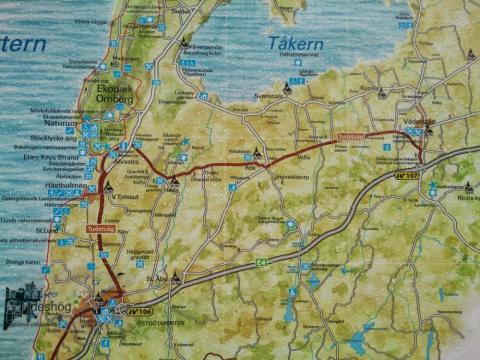 turistkarta över turistvägen