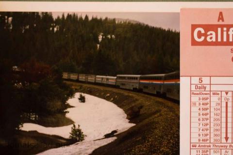 utsikt på California Zephyr 1995