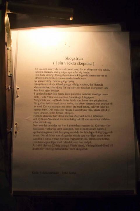 exempel på utställningstext Sägnernas hus
