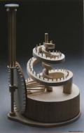 modell av en av Leonardo da Vincis uppfinningar