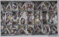 Michelangelo, sixtinska kapellet (vykort)