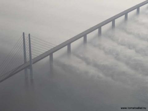 Öresundsbron från luften