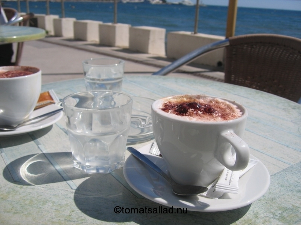 kaffe i Juan de Pins