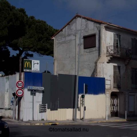 byggarbetsplats Juan les Pins