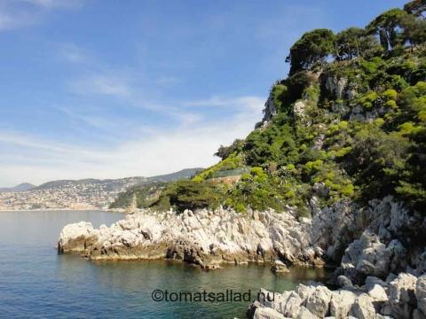 Västra sidan av Cap Ferrat