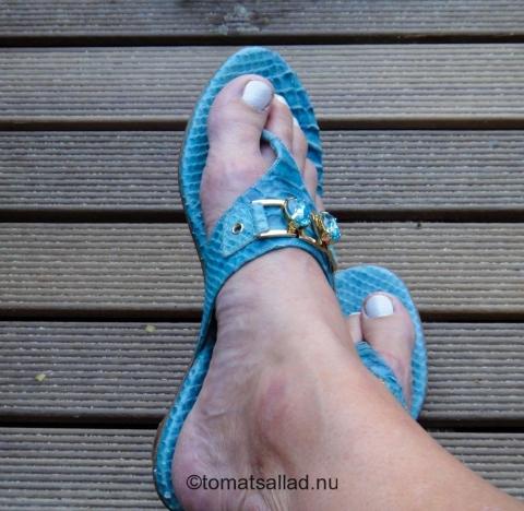 turkosa sandaler