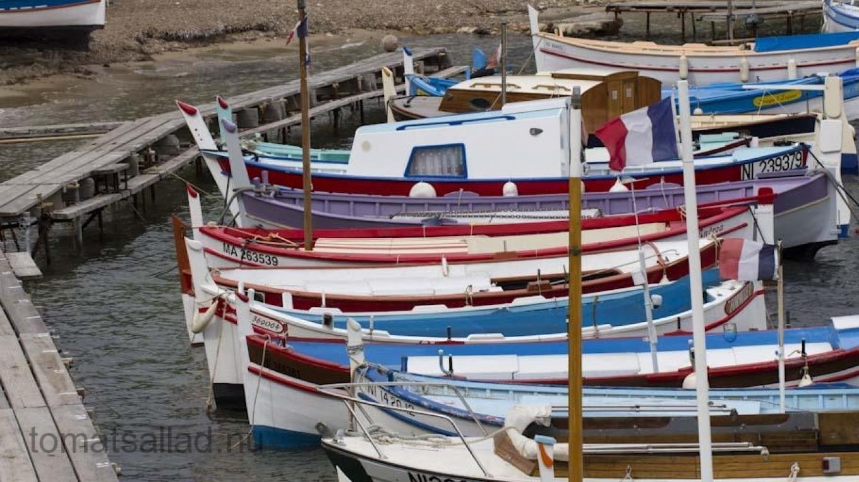 Fiskebåtar i Port de l'Olivette