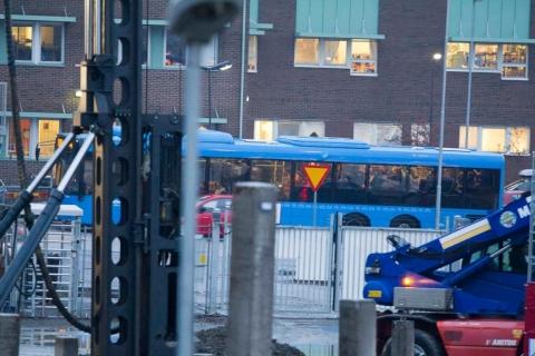 Busshållplats på Bifrostgatan