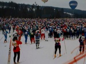 Vasaloppet, starten i Berga by