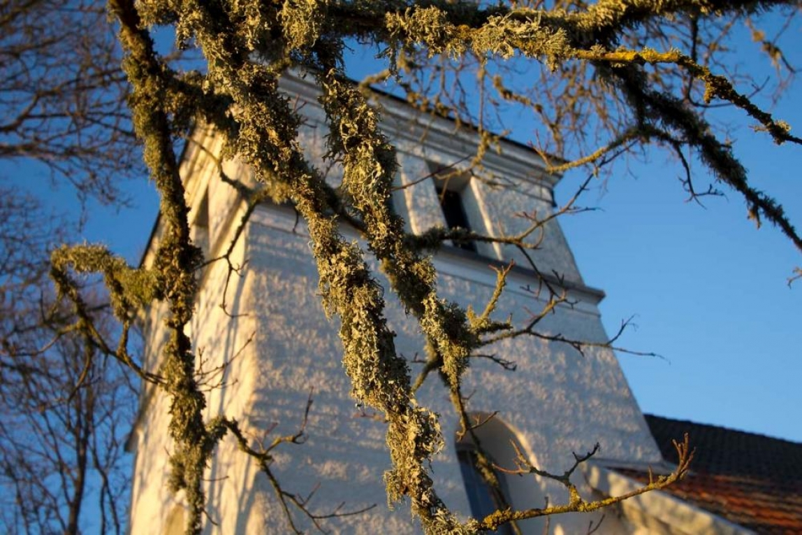 en bild av en kyrka eller av lavar?