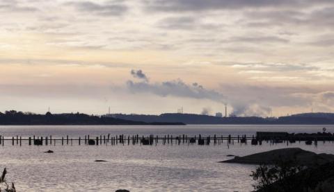 Hav nära Ringhals kärnkraftverk