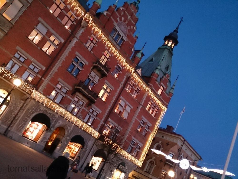 julskyltat i Sundsvall