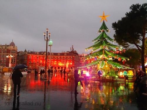Årets julträd i Nice