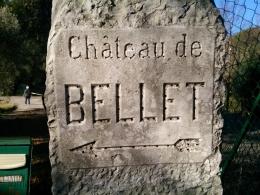Château de Bellet skylt