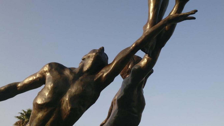 inspiration detalj av staty