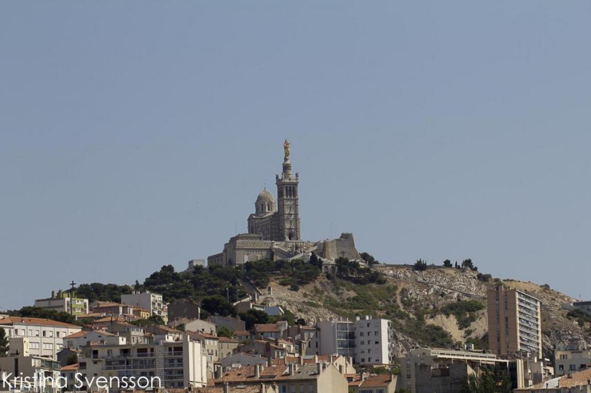 marseille kyrka på höjd
