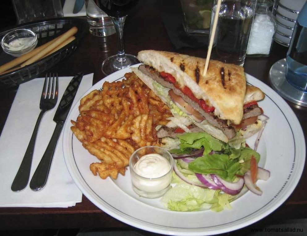 Neos steak sandwich på danilo