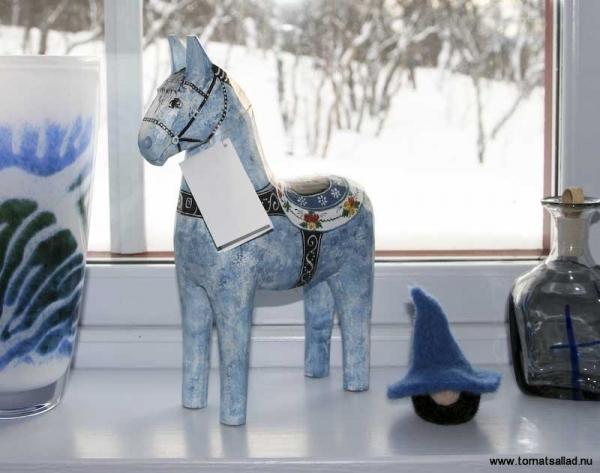 Blå dalahäst