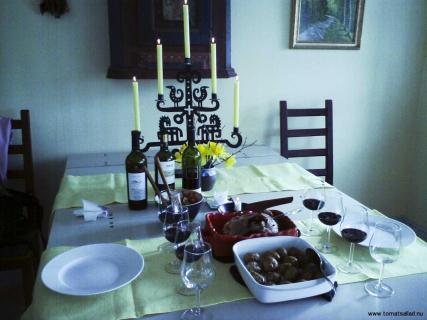 Lammstek och vin påsken 2009