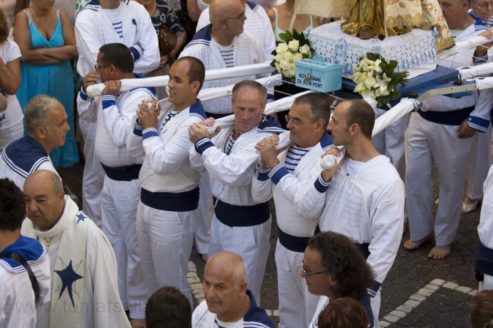 Närbild på några av sjömännen.