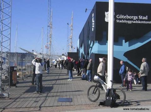 publik bygget av Göteborgshjulet