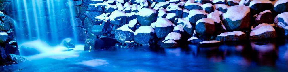 blå vinterbild