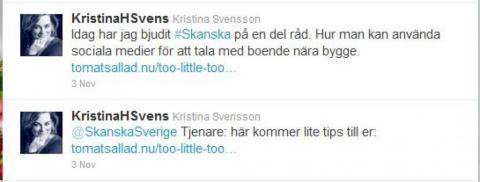 tweets till SKANSKA