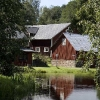 idyllisk vy Långban gruvby