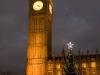 Big Ben och en julgran