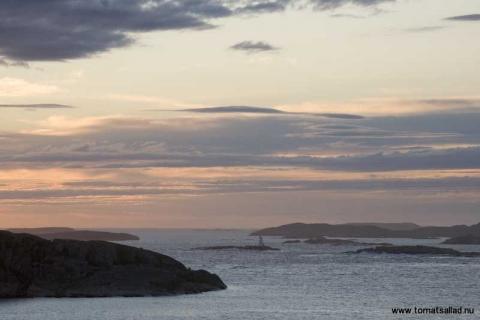 utsikt norrut från lilla hamburgö