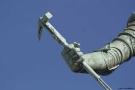 detalj statyn på Kungsportsplatsen