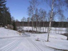 Hills golfbana i snö