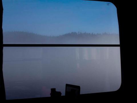 Aspen sett från tågfönster