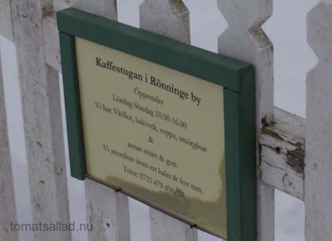 Kaffestugan i Rönninge by öppen helger