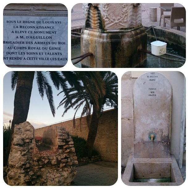 collage tema fontäner och akvedukt