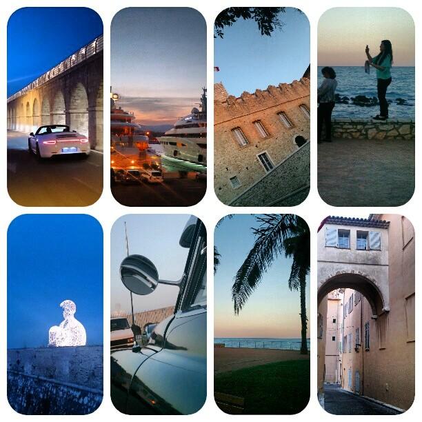 collage kväll i Antibes