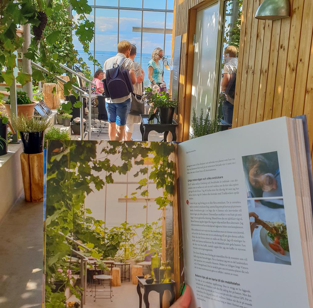 Uppgrenna naturhus, samma vy i boken och i verkligheten