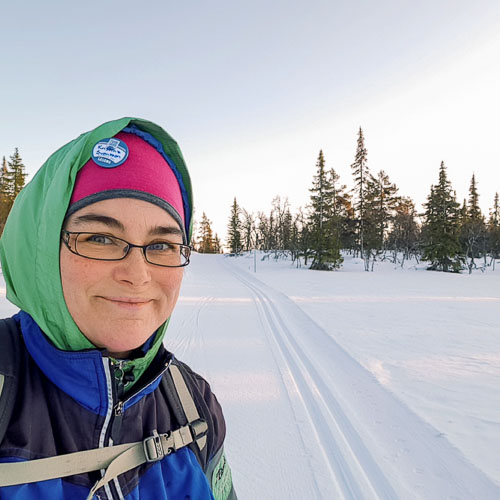 Kristina Svensson i skidspåret